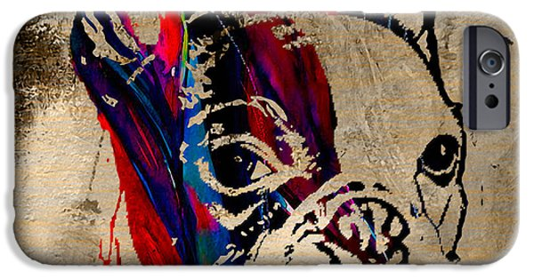 Dog iPhone Cases - French Bulldog iPhone Case by Marvin Blaine
