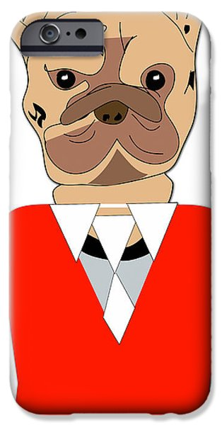 Bulldog iPhone Cases - French Bulldog Painting iPhone Case by Marvin Blaine