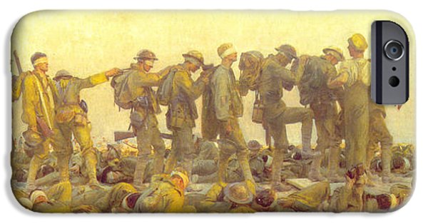Wwi Paintings iPhone Cases - Gassed iPhone Case by John Singer Sargent