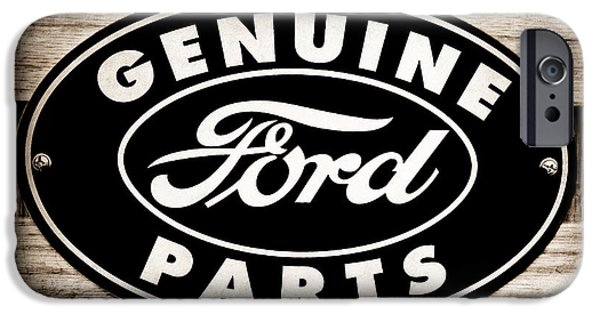 Genuine iPhone Cases - Genuine Ford Parts Sign iPhone Case by Jill Reger