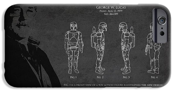 George Digital iPhone Cases - George Lucas Patent 1979 iPhone Case by Aged Pixel