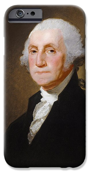 American President iPhone Cases - George Washington iPhone Case by Gilbert Stuart