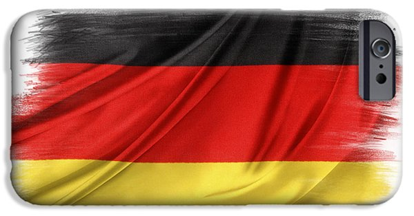 Flag iPhone Cases - German flag iPhone Case by Les Cunliffe