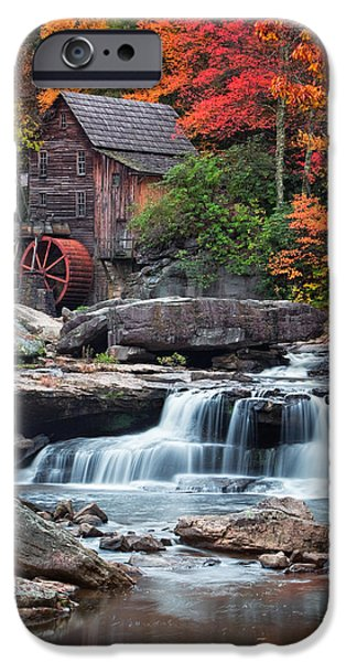 Grist Mill iPhone Cases - Glade Creek Grist Mill  iPhone Case by Emmanuel Panagiotakis