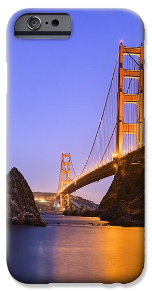 Field. Cloud iPhone Cases - Golden gate bridge iPhone Case by Emmanuel Panagiotakis