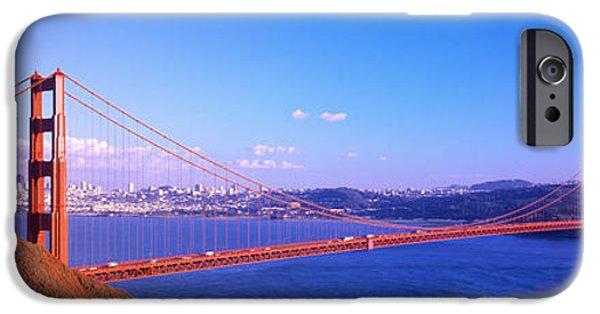 Pathway iPhone Cases - Golden Gate Bridge San Francisco Ca Usa iPhone Case by Panoramic Images