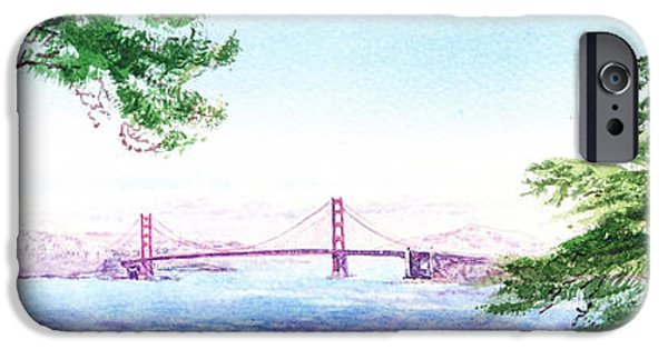 Lincoln iPhone Cases - Golden Gate Bridge San Francisco iPhone Case by Irina Sztukowski