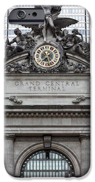 North America iPhone Cases - Grand Central Terminal Facade iPhone Case by Susan Candelario