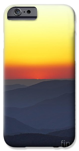 Blue Ridge Parkway iPhone Cases - Great Smokie Mountains National Park Sunset iPhone Case by Dustin K Ryan