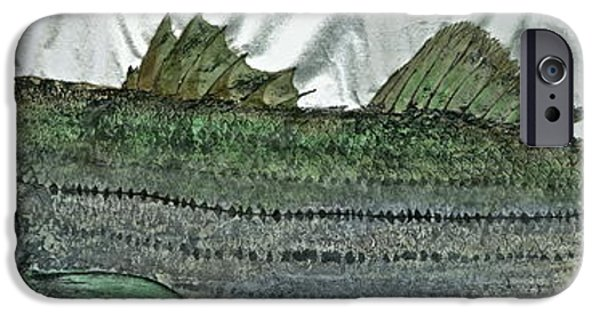 Sportfish Mixed Media iPhone Cases - Gyotaku - Striped Bass - Rock Fish - Striper iPhone Case by Jeffrey Canha