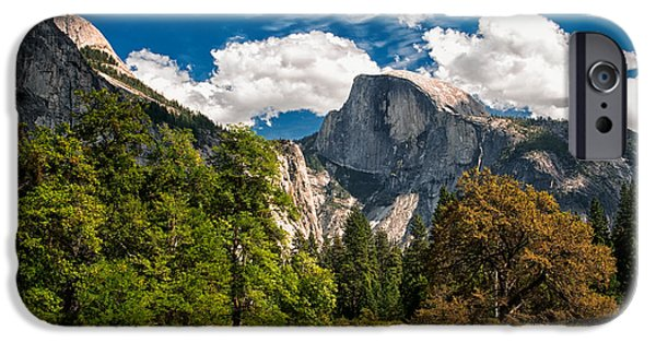 Yosemite National Park iPhone Cases - Half Dome iPhone Case by Cat Connor