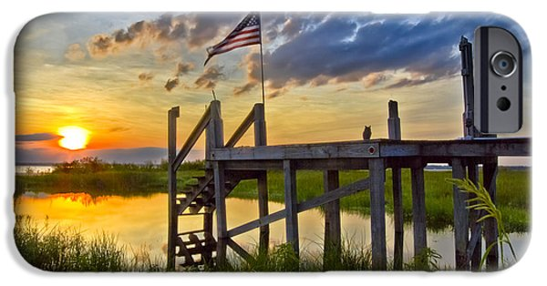 Old Glory iPhone Cases - Happy Hour iPhone Case by Debra and Dave Vanderlaan