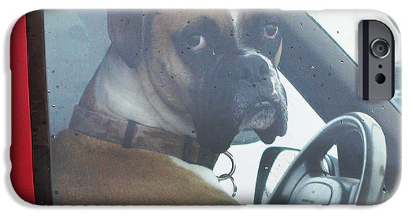 Boxer Digital Art iPhone Cases - Hate Waiting iPhone Case by Patricia Januszkiewicz