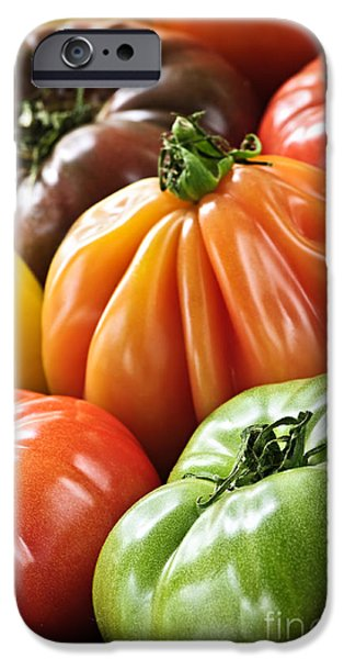 Freshness iPhone Cases - Heirloom tomatoes iPhone Case by Elena Elisseeva