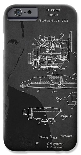 Henry Ford Engine Patent Drawing From 1928 iPhone Case by Aged Pixel