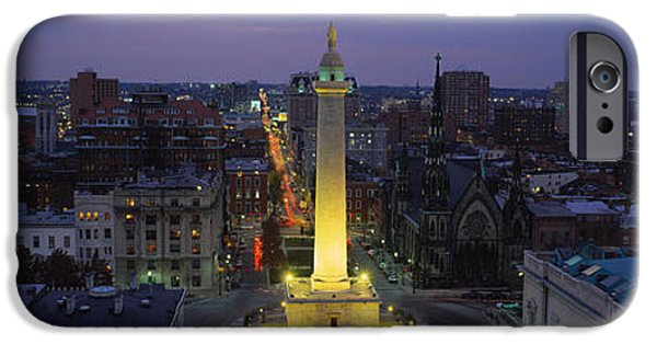 Building iPhone Cases - High Angle View Of A Monument iPhone Case by Panoramic Images