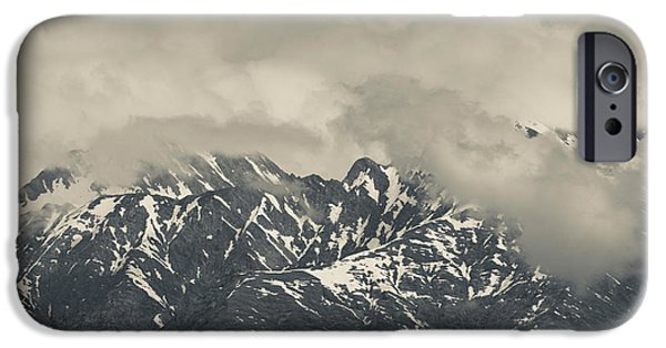 Mountain iPhone Cases - High Angle View Of Mountain Landscape iPhone Case by Panoramic Images