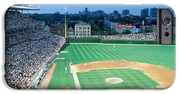 Wrigley Field iPhone Cases - High Angle View Of Spectators iPhone Case by Panoramic Images