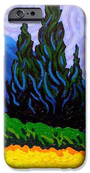 Texture iPhone Cases - Homage To Van Gogh iPhone Case by John  Nolan