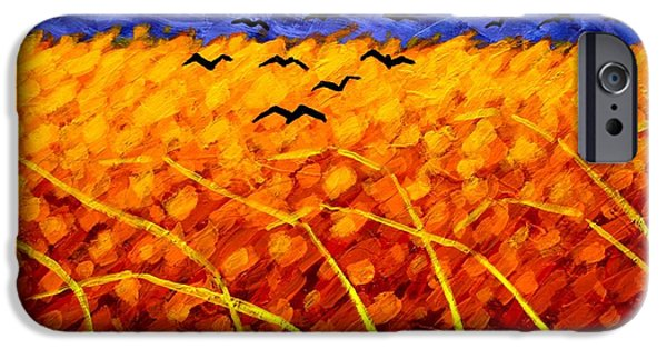 Crows iPhone Cases - Homage To Vincent iPhone Case by John  Nolan