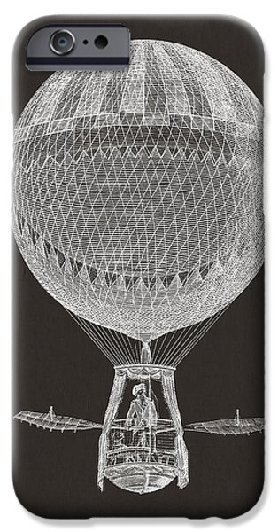 Hot Air Balloons iPhone Cases - Hot air balloon iPhone Case by Aged Pixel