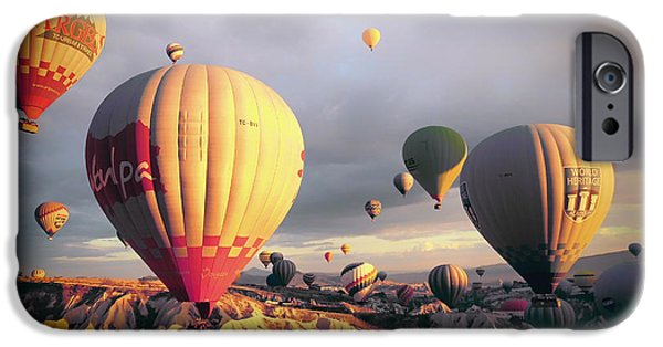 Hot Air Balloon iPhone Cases - Hot Air Balloons over Turkey iPhone Case by Mountain Dreams