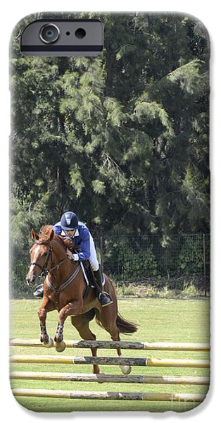 Horse Racing iPhone Cases - Hurdle Race iPhone Case by Amir Paz