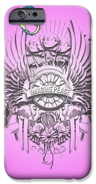 Normal Paintings iPhone Cases - Imagine Lennon iPhone Case by Pop Culture Prophet