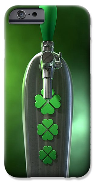 Machinery iPhone Cases - Irish Beer Tap iPhone Case by Allan Swart