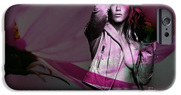 Green iPhone Cases - Jennifer Aniston iPhone Case by Marvin Blaine