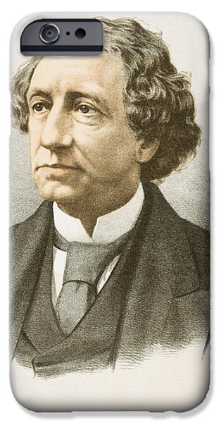 Autographed Drawings iPhone Cases - JOHN ALEXANDER MacDONALD  iPhone Case by Granger