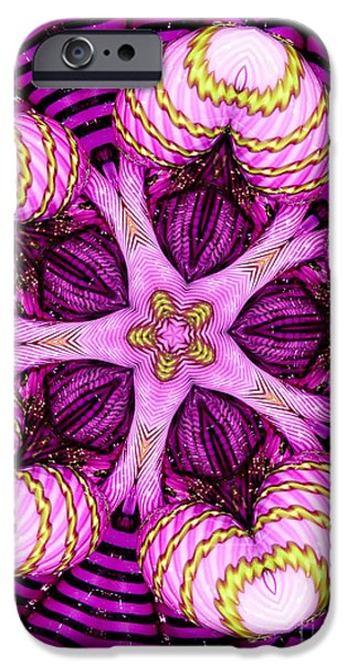 Kaleidoscope of Blown Glass iPhone Case by Amy Cicconi