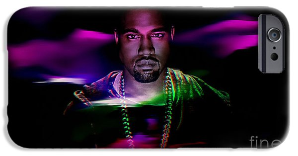 Kanye West iPhone Cases - Kanye Collection iPhone Case by Marvin Blaine
