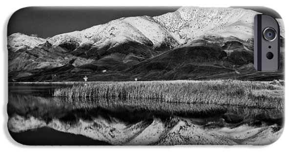 White Mountains iPhone Cases - Klondike Lake iPhone Case by Cat Connor