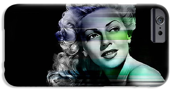 Hollywood iPhone Cases - Lana Turner iPhone Case by Marvin Blaine