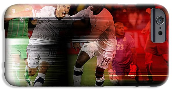 Soccer iPhone Cases - Landon Donovan iPhone Case by Marvin Blaine