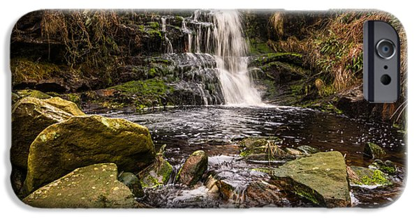 United iPhone Cases - Lead Mine Clough Waterfall. iPhone Case by Daniel Kay