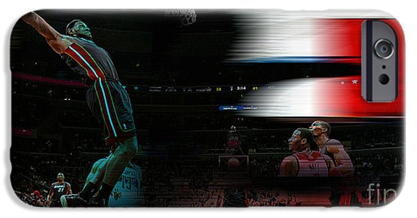 Lebron Mixed Media iPhone Cases - Lebron James iPhone Case by Marvin Blaine