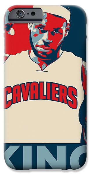 Kobe iPhone Cases - Lebron James iPhone Case by Taylan Soyturk