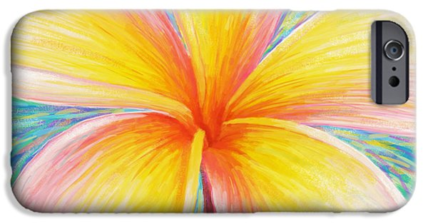 Pastel Paintings iPhone Cases - Leelawadee iPhone Case by Atiketta Sangasaeng
