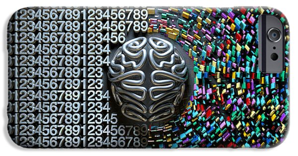 Reality iPhone Cases - Left And Right Brain Concept iPhone Case by Allan Swart