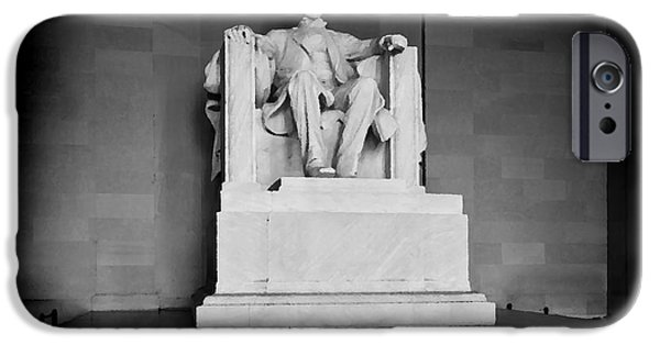 Us Capital Mixed Media iPhone Cases - Lincoln Memorial iPhone Case by Lane Erickson