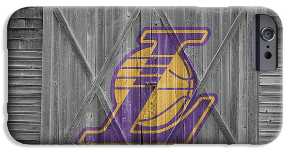 Lakers iPhone Cases - Los Angeles Lakers iPhone Case by Joe Hamilton