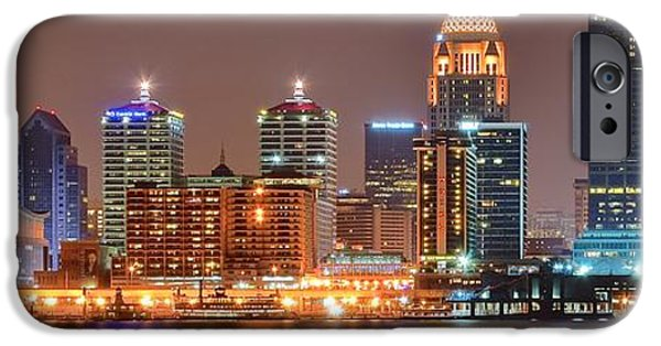 Inner World iPhone Cases - Louisville Panoramic View iPhone Case by Frozen in Time Fine Art Photography