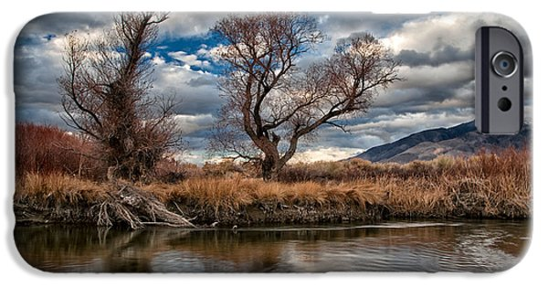 River iPhone Cases - Lower Owens River iPhone Case by Cat Connor