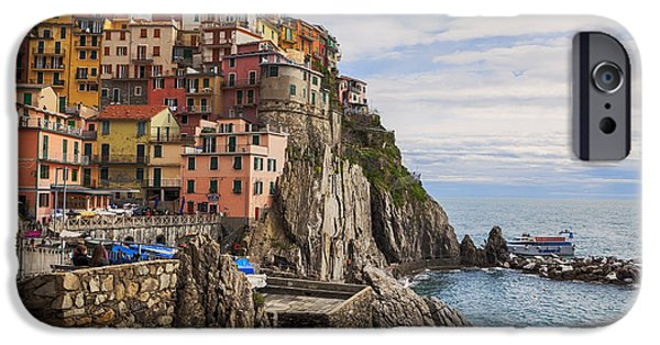Rocks iPhone Cases - Manarola iPhone Case by Joana Kruse