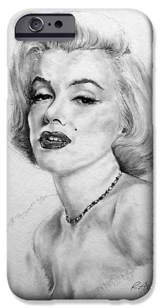 Mr. President iPhone Cases - Marilyn iPhone Case by Roy Kaelin