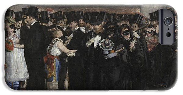 Nineteenth Century iPhone Cases - Masked Ball at the Opera iPhone Case by Edouard Manet