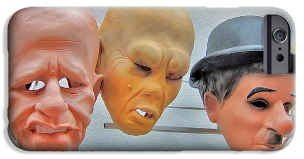 Charles Bridge Digital Art iPhone Cases - Masks. Next To Charles Bridge. Prague. Czech Republic. iPhone Case by Andy Za