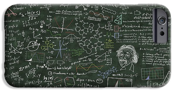 Problems iPhone Cases - Maths Formula On Chalkboard iPhone Case by Setsiri Silapasuwanchai